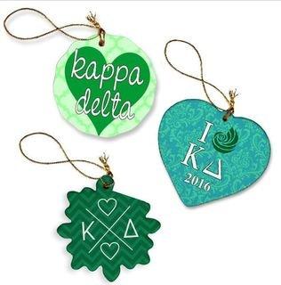 Kappa Delta Porcelain Ornament Trio Set
