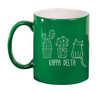 Kappa Delta Purrrfect Sorority Coffee Mug