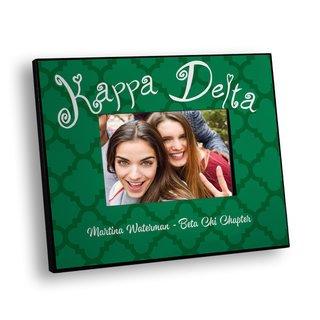 Kappa Delta Quatrefoil Picture Frame