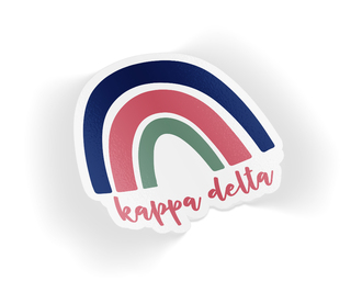 Kappa Delta Rainbow Sticker