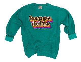 Kappa Delta Retro Maya Comfort Colors Crewneck Sweatshirt