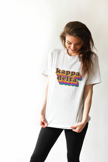 Kappa Delta Retro Maya Comfort Colors Tee