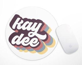 Kappa Delta Retro Script Mousepad