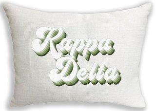 Kappa Delta Retro Throw Pillow