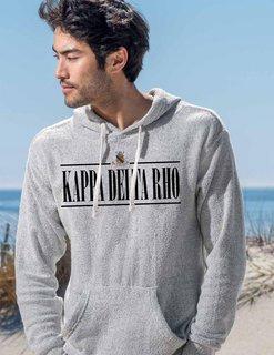 Kappa Delta Rho Line Crest Lucas Loop Fleece Hood