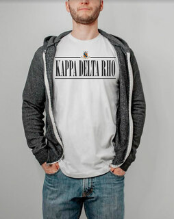 Kappa Delta Rho Line Crest Tee