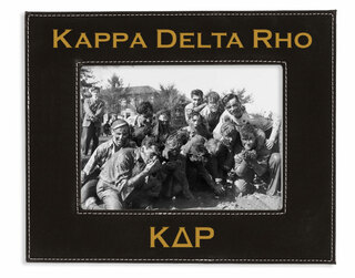 """Kappa Delta Rho 4"""" x 6"""" Leatherette Picture Frame"""
