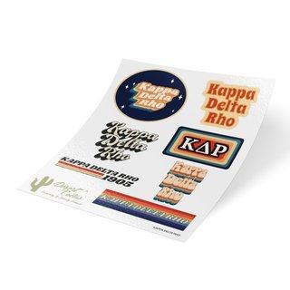 Kappa Delta Rho 70's Sticker Sheet