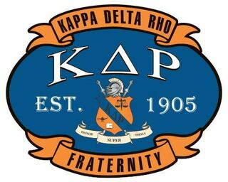 Kappa Delta Rho Banner Crest - Shield Decal