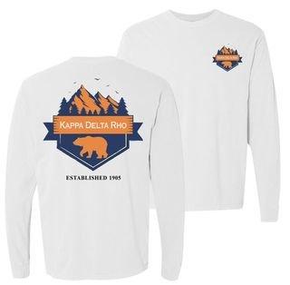 Kappa Delta Rho Big Bear Long Sleeve T-shirt - Comfort Colors