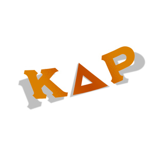 Kappa Delta Rho Big Greek Letter Window Sticker Decal