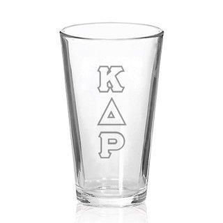 Kappa Delta Rho Big Letter Mixing Glass