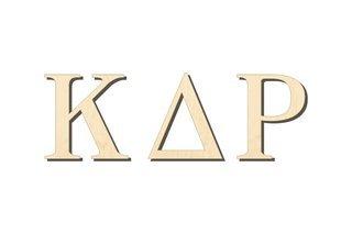 Kappa Delta Rho Big Wooden Greek Letters