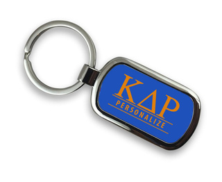 Kappa Delta Rho Chrome Custom Keychain