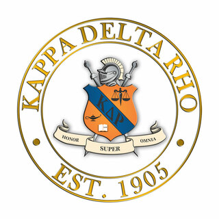 Kappa Delta Rho Circle Crest - Shield Decal