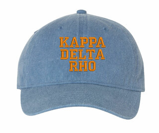 Kappa Delta Rho Pigment Dyed Baseball Cap