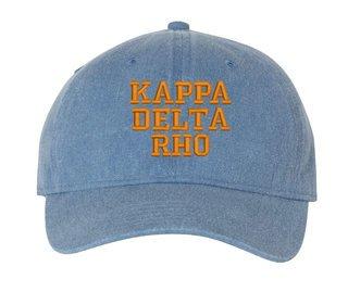 Kappa Delta Rho Comfort Colors Pigment Dyed Baseball Cap
