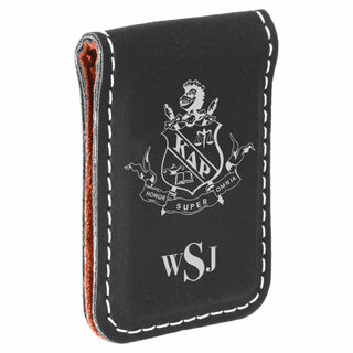Kappa Delta Rho Crest Leatherette Money Clip