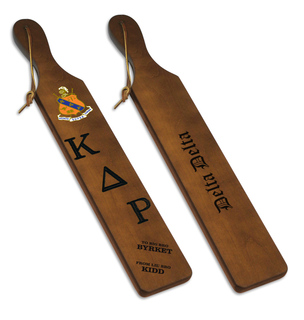 Kappa Delta Rho Custom Fraternity Paddle