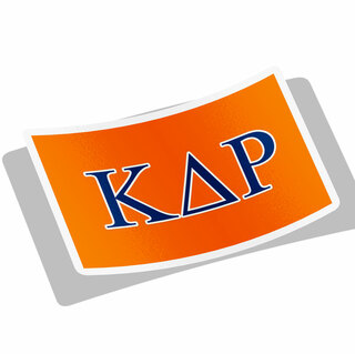 Kappa Delta Rho Flag Decal Sticker