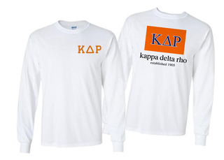 Kappa Delta Rho Flag Long Sleeve T-shirt