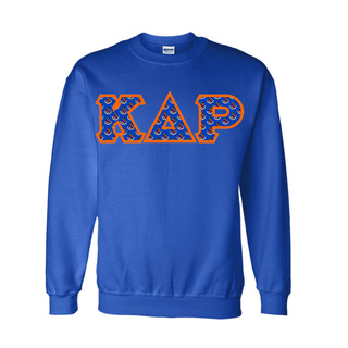 Kappa Delta Rho Fraternity Crest - Shield Twill Letter Crewneck Sweatshirt
