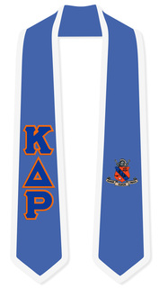 Kappa Delta Rho Greek 2 Tone Lettered Graduation Sash Stole
