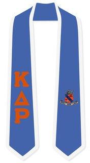 DISCOUNT-Kappa Delta Rho Greek 2 Tone Lettered Graduation Sash Stole
