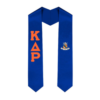 Kappa Delta Rho Greek Lettered Graduation Sash Stole With Crest