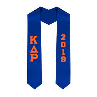 Kappa Delta Rho Greek Lettered Graduation Sash Stole With Year - Best Value