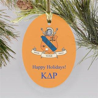 Kappa Delta Rho Holiday Color Crest - Shield Ornament