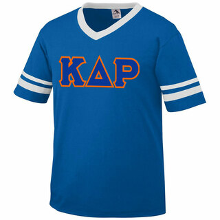 DISCOUNT-Kappa Delta Rho Jersey With Greek Applique Letters