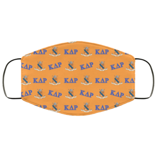 Kappa Delta Rho Letter Crest Face Masks