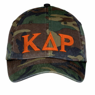 Kappa Delta Rho Lettered Camouflage Hat
