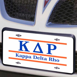 Kappa Delta Rho Lettered Lines License Cover