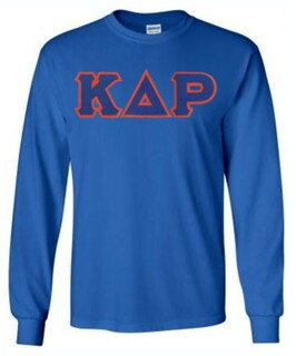 Kappa Delta Rho Lettered Long Sleeve Shirt
