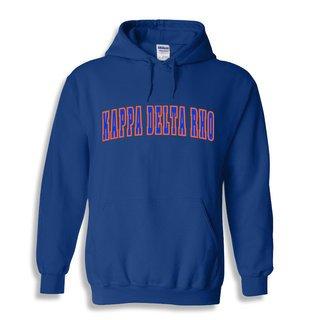 Kappa Delta Rho Letterman Twill Hoodie