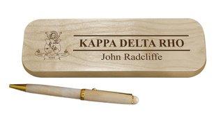 Kappa Delta Rho Maple Wood Pen Set