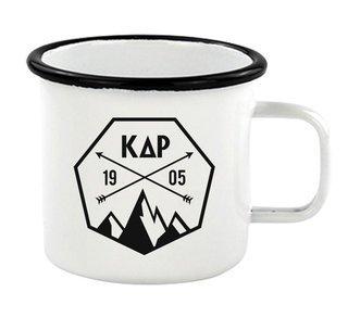 Kappa Delta Rho Metal Camping Mug