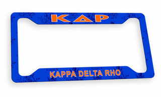 Kappa Delta Rho Metal Custom License Plate Frame