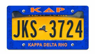 Kappa Delta Rho Metal License Plate Frame