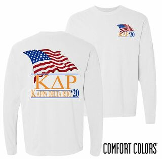 Kappa Delta Rho Patriot Long Sleeve T-shirt - Comfort Colors