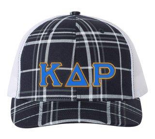 Kappa Delta Rho Plaid Snapback Trucker Hat - CLOSEOUT