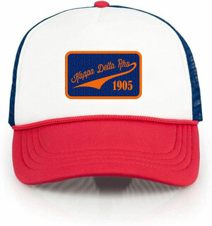 Kappa Delta Rho Red, White & Blue Trucker Hat