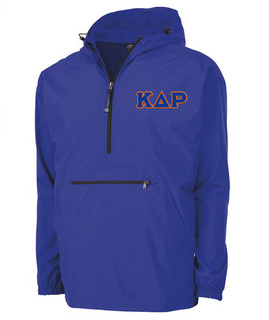 Kappa Delta Rho Tackle Twill Lettered Pack N Go Pullover