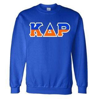 Kappa Delta Rho Two Tone Greek Lettered Crewneck Sweatshirt
