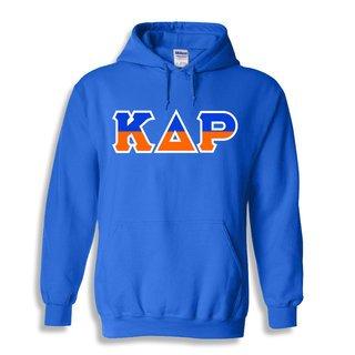 Kappa Delta Rho Two Tone Greek Lettered Hooded Sweatshirt