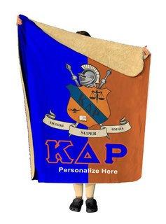 Kappa Delta Rho Two Tone Sherpa Lap Blanket