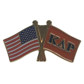 Kappa Delta Rho USA Flag Lapel Pin