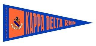 Kappa Delta Rho Wall Pennants